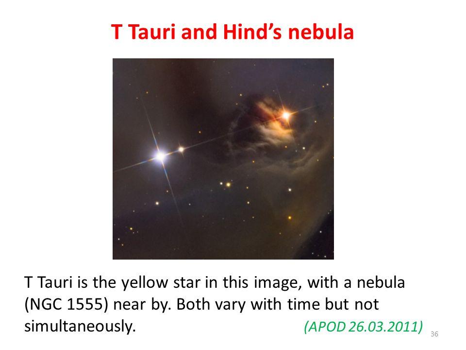 T Tauri and Hind's nebula