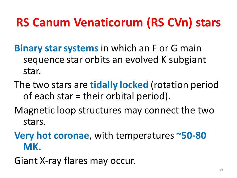 RS Canum Venaticorum (RS CVn) stars