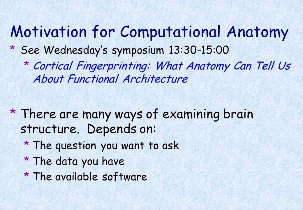 Motivation for Computational Anatomy