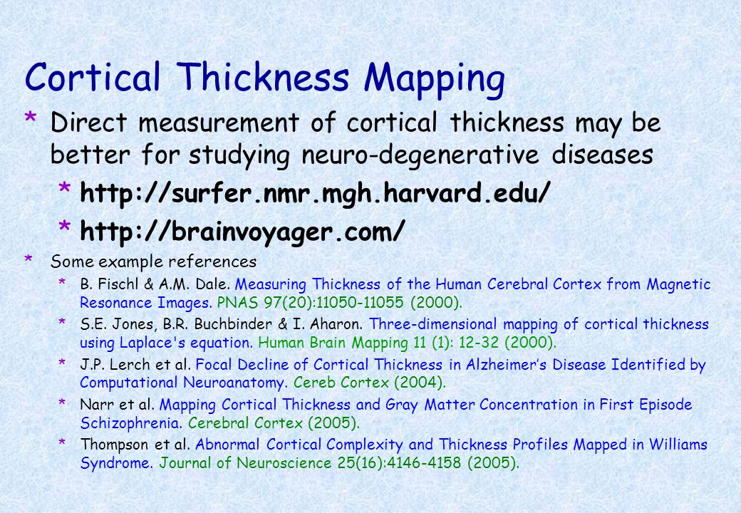 Cortical Thickness Mapping