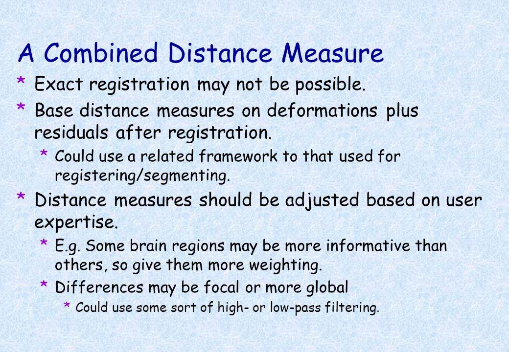 A Combined Distance Measure