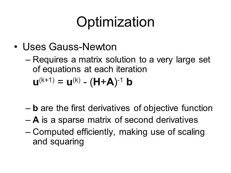 Optimization Uses Gauss-Newton