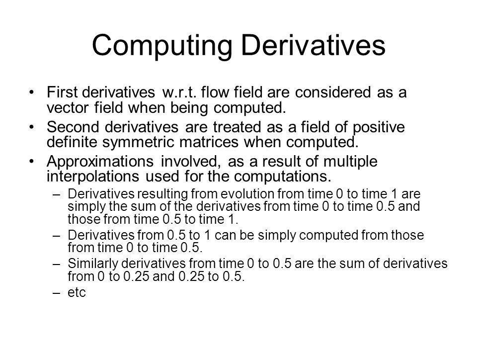 Computing Derivatives