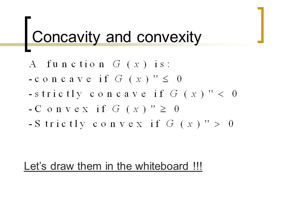 Concavity and convexity
