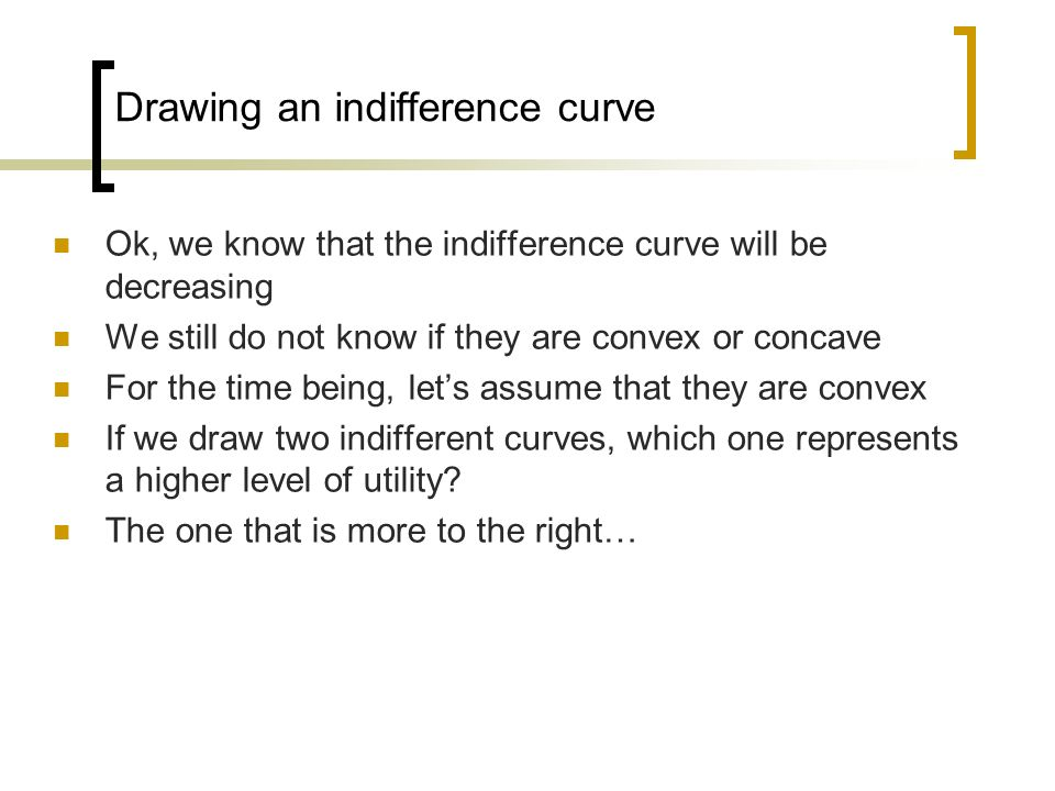 Drawing an indifference curve