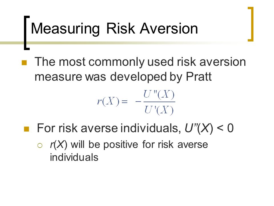 Measuring Risk Aversion