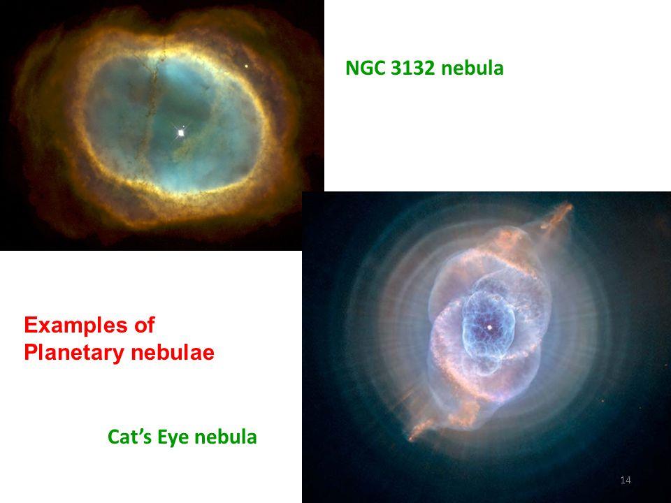 NGC 3132 nebula Examples of Planetary nebulae Cat's Eye nebula