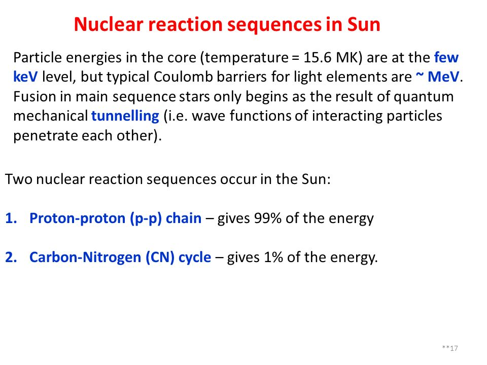 Nuclear reaction sequences in Sun