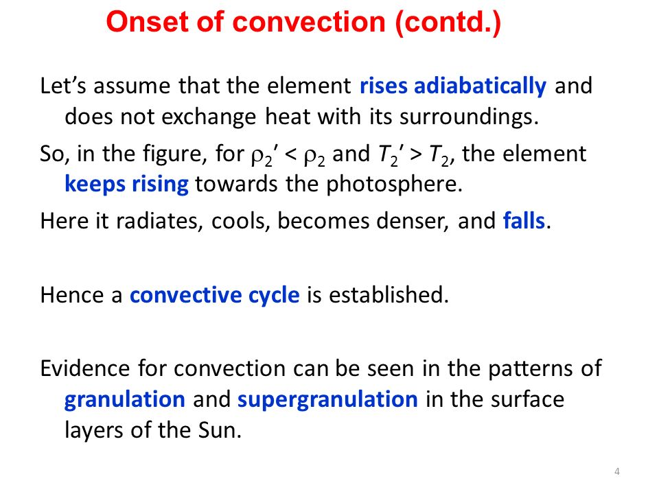Onset of convection (contd.)