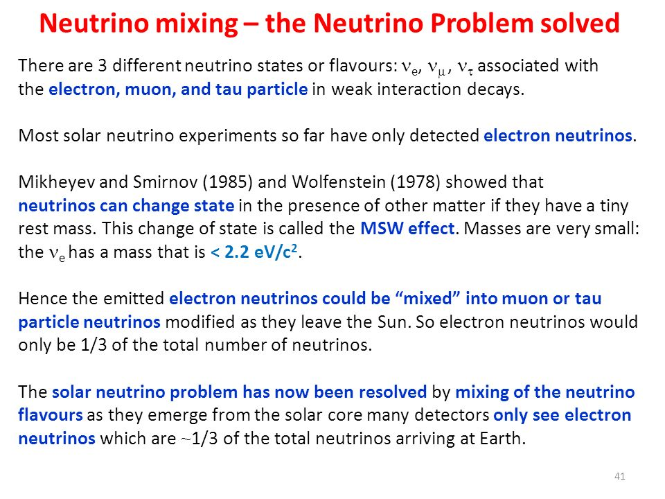 Neutrino mixing – the Neutrino Problem solved