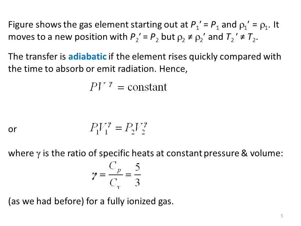Figure shows the gas element starting out at P1′ = P1 and 1′ = 1