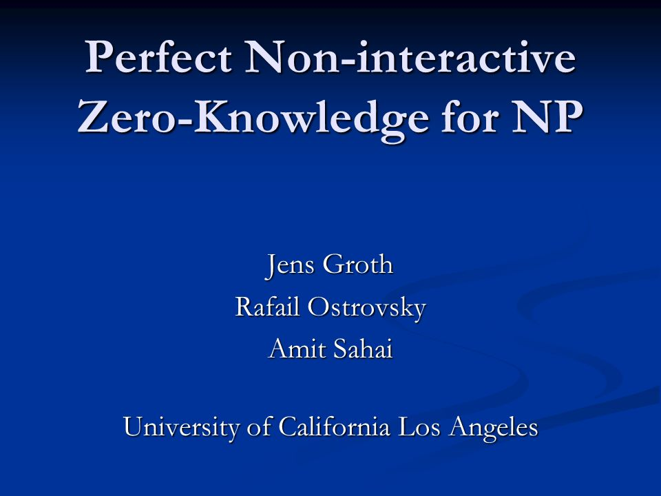 Perfect Non-interactive Zero-Knowledge for NP