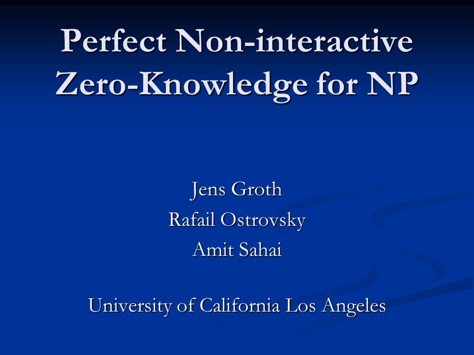 Perfect Non-interactive Zero-Knowledge for NP