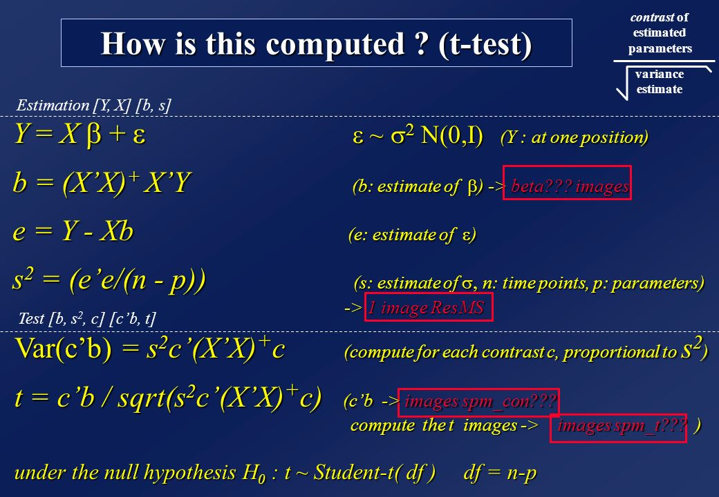 How is this computed (t-test)
