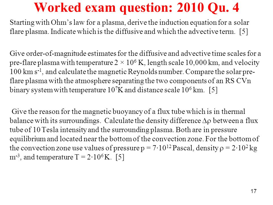 Worked exam question: 2010 Qu. 4