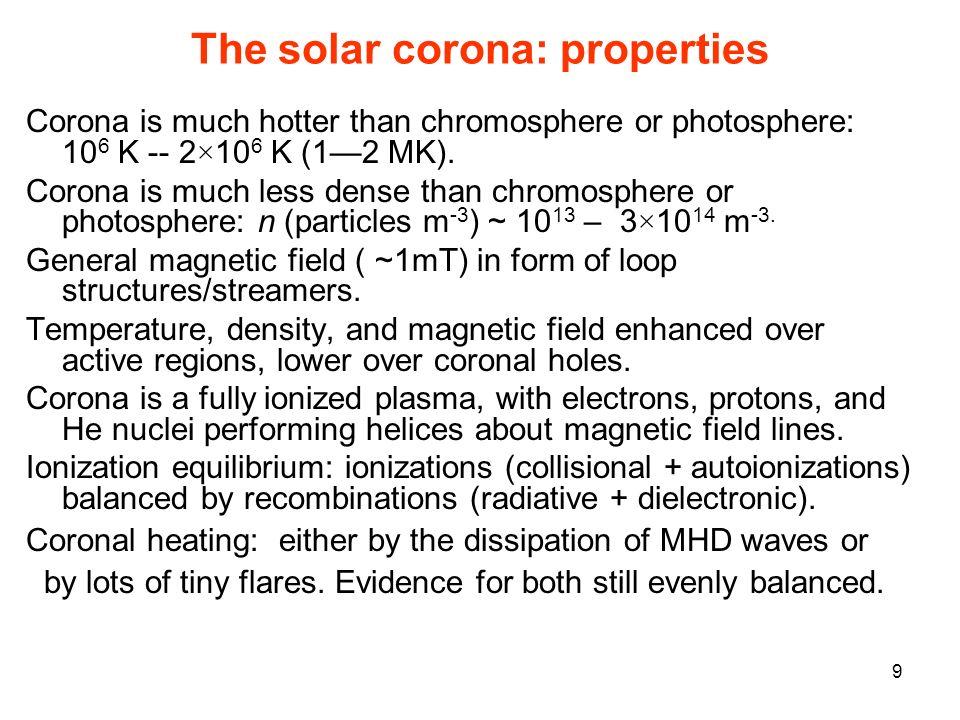 The solar corona: properties