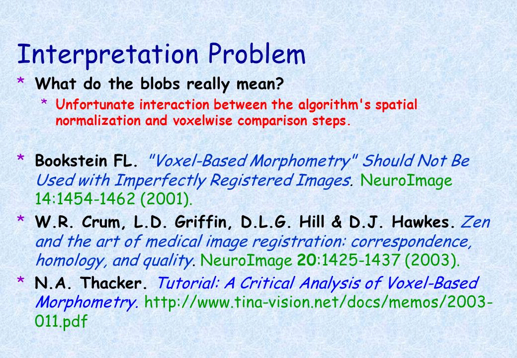 Interpretation Problem