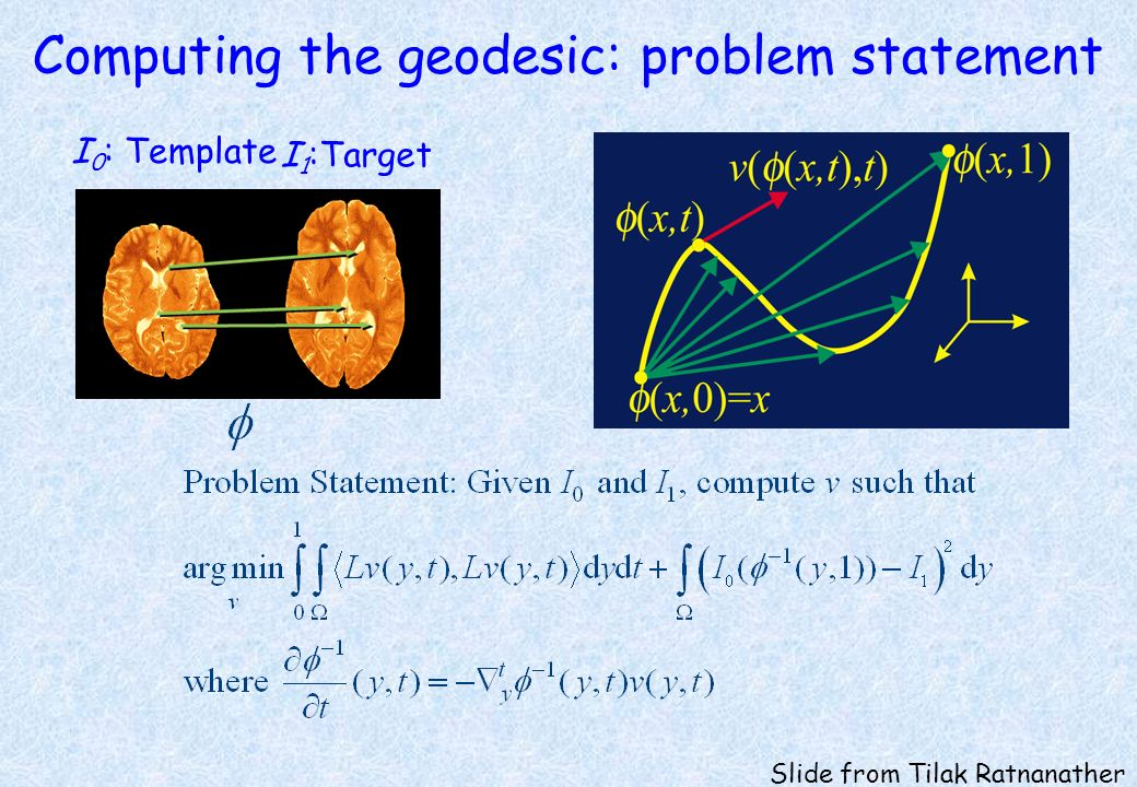 Computing the geodesic: problem statement