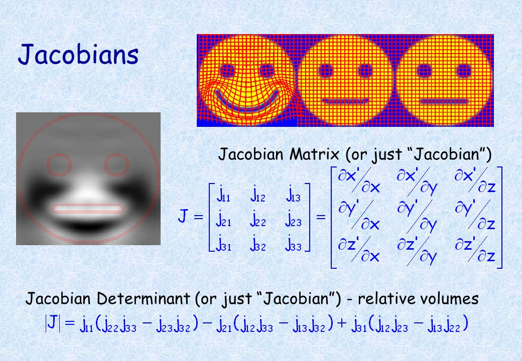 Jacobians Jacobian Matrix (or just Jacobian )