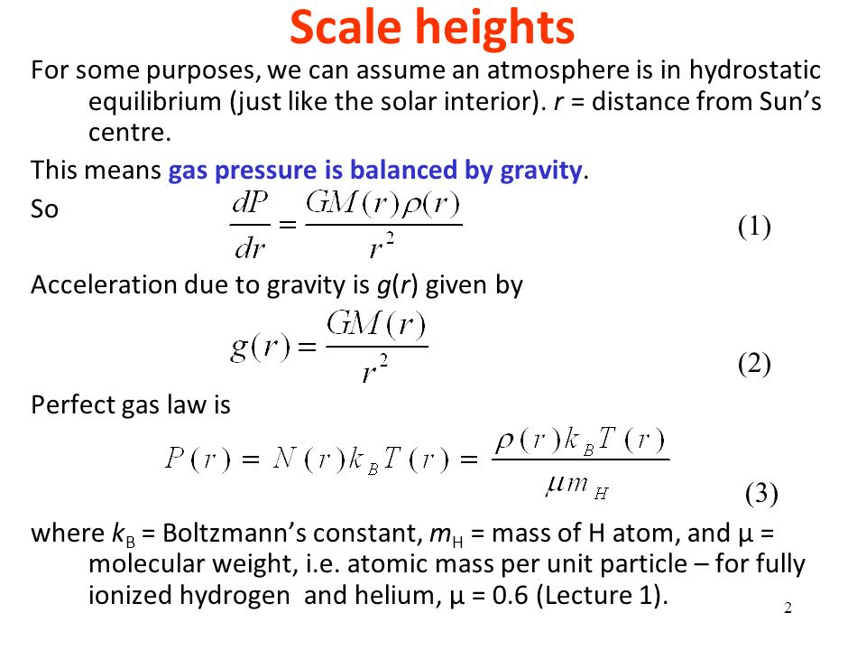 Scale heights