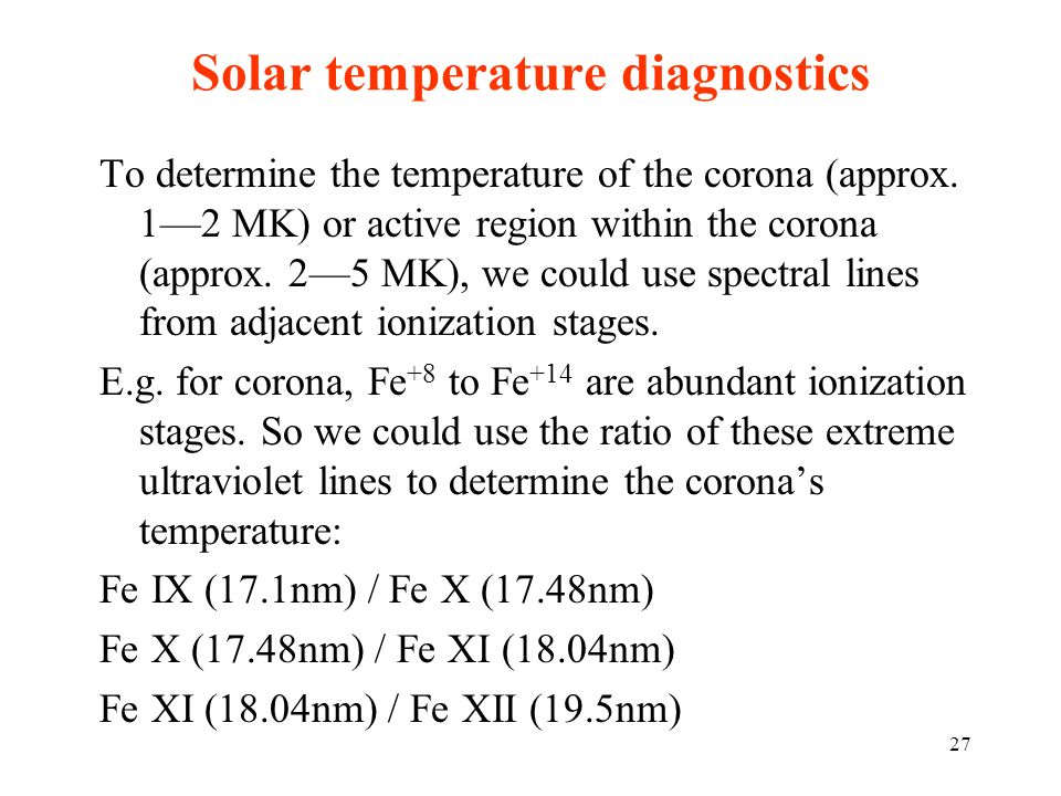 Solar temperature diagnostics