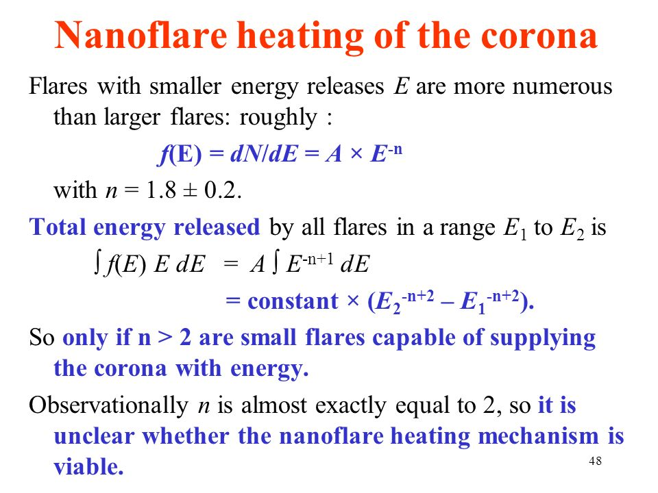 Nanoflare heating of the corona