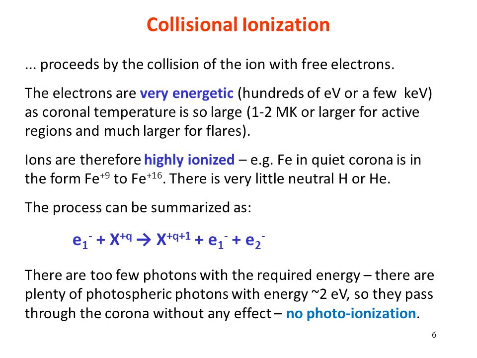 Collisional Ionization
