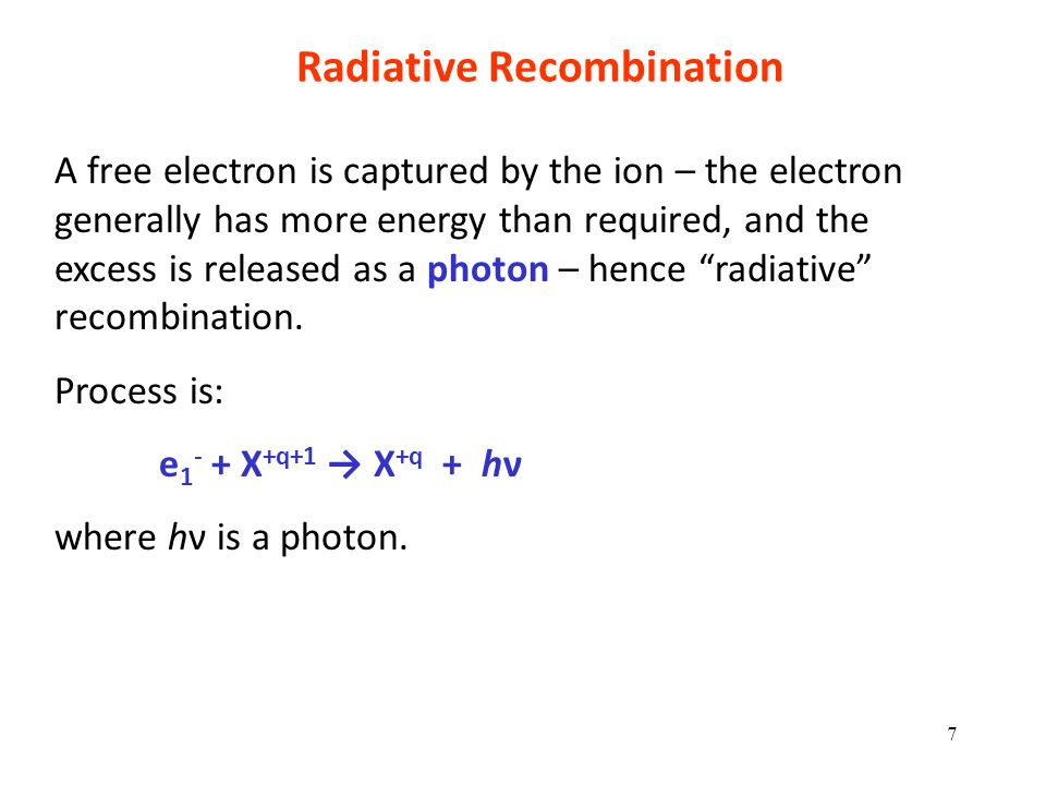 Radiative Recombination