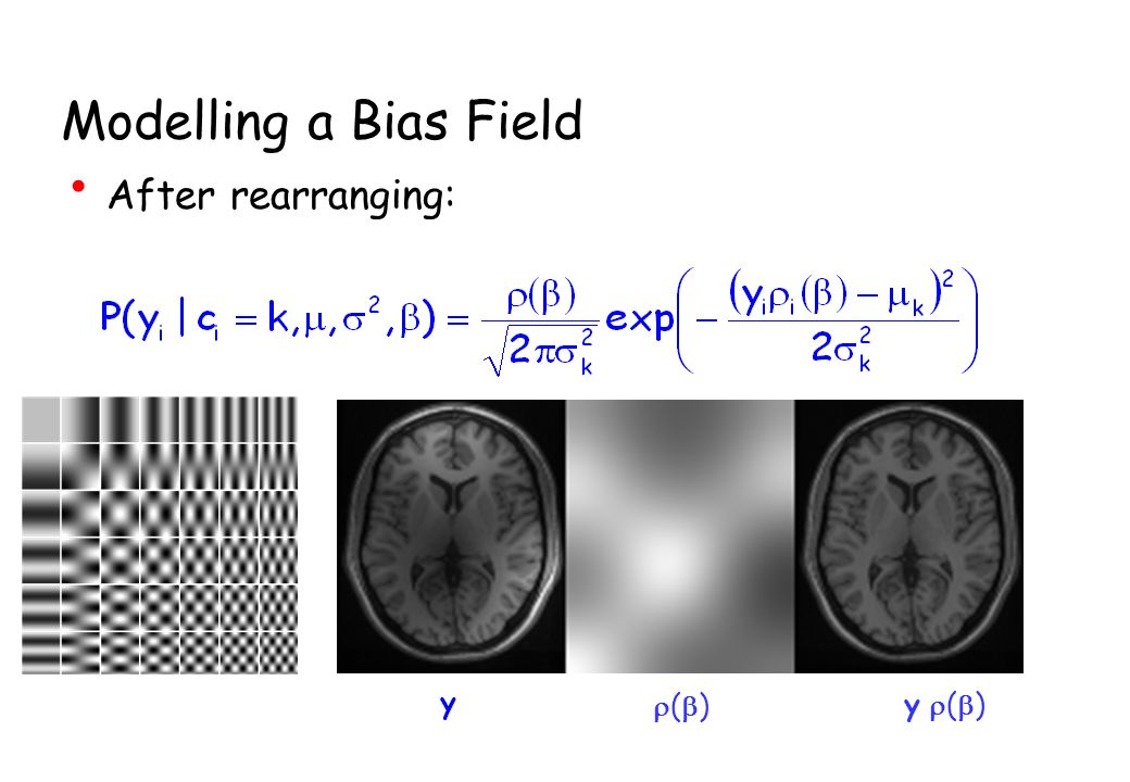 Modelling a Bias Field After rearranging: y r(b) y r(b)
