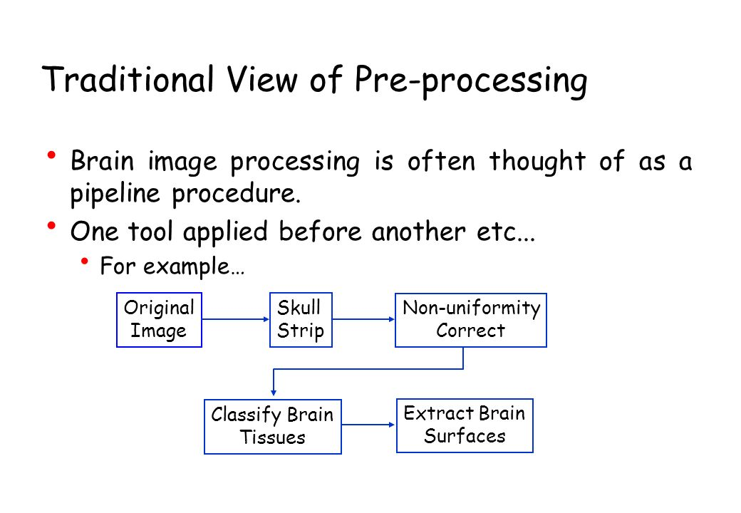 Traditional View of Pre-processing