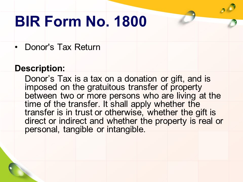 Phase of Land Transfer BIR Forms in Real Estate - ppt video online ...