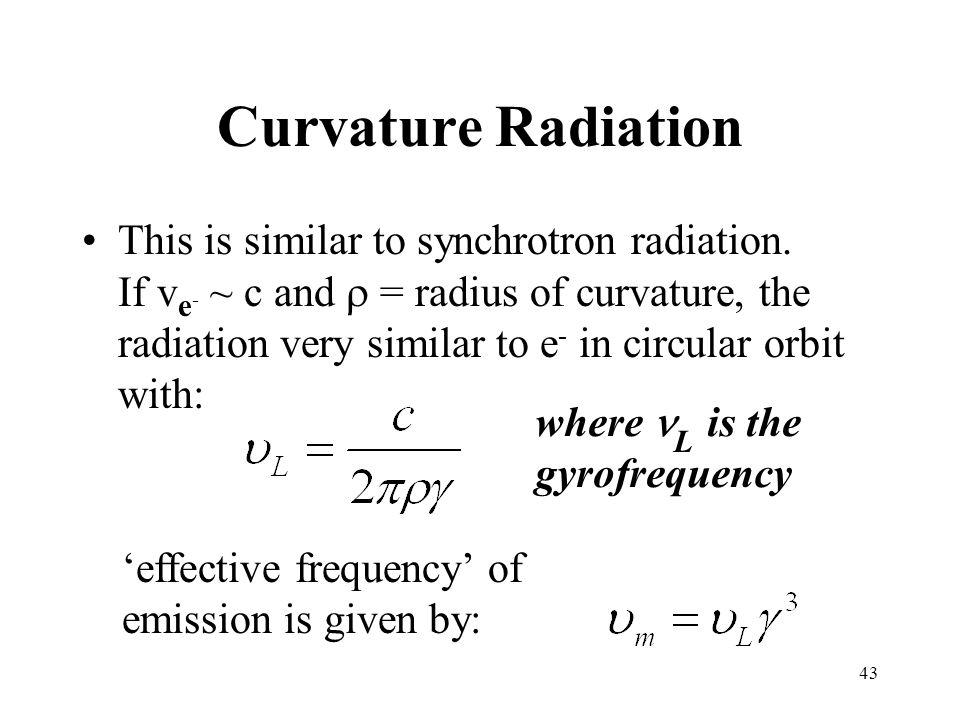 Curvature Radiation