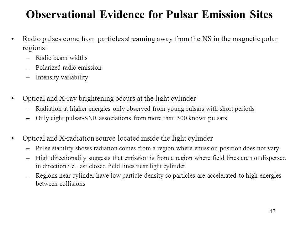 Observational Evidence for Pulsar Emission Sites