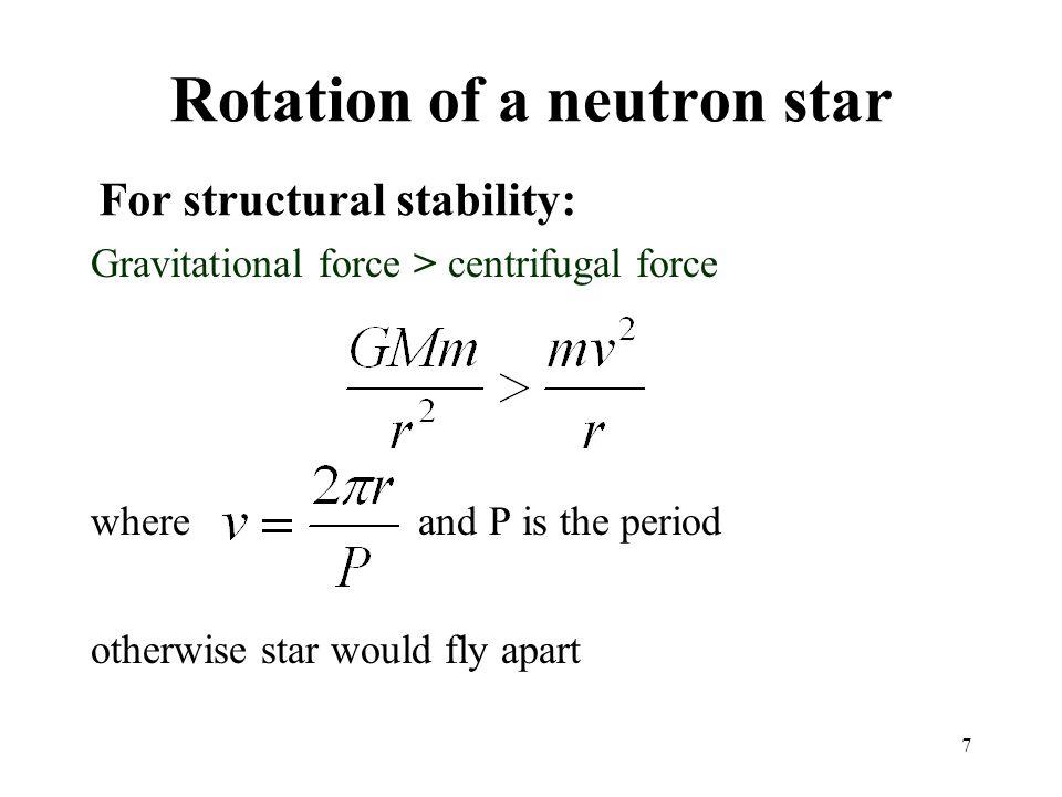 Rotation of a neutron star