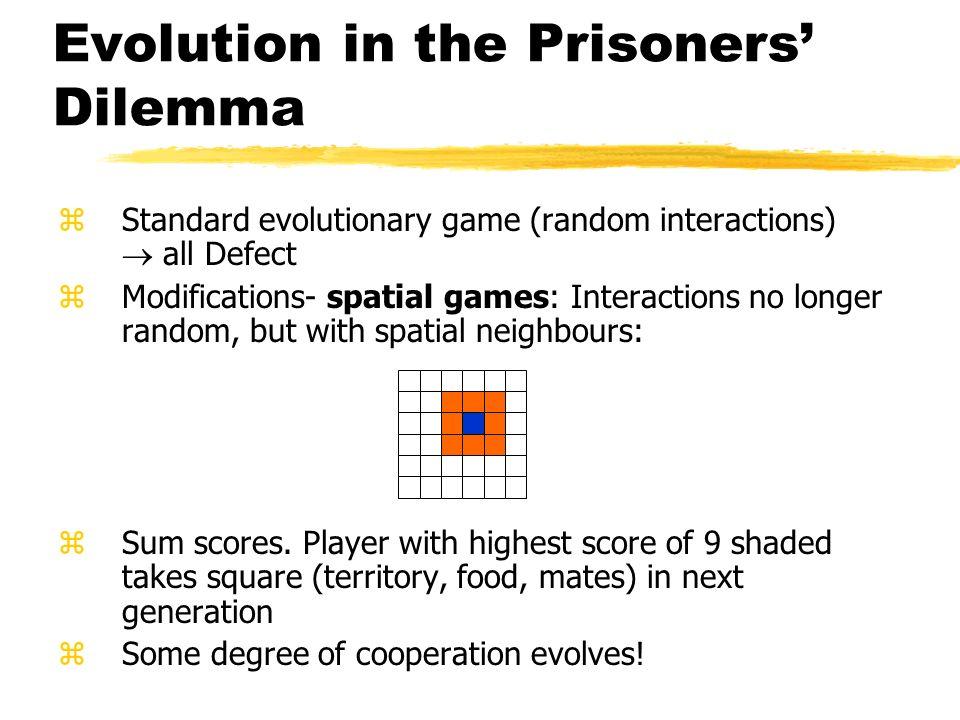 Evolution in the Prisoners' Dilemma