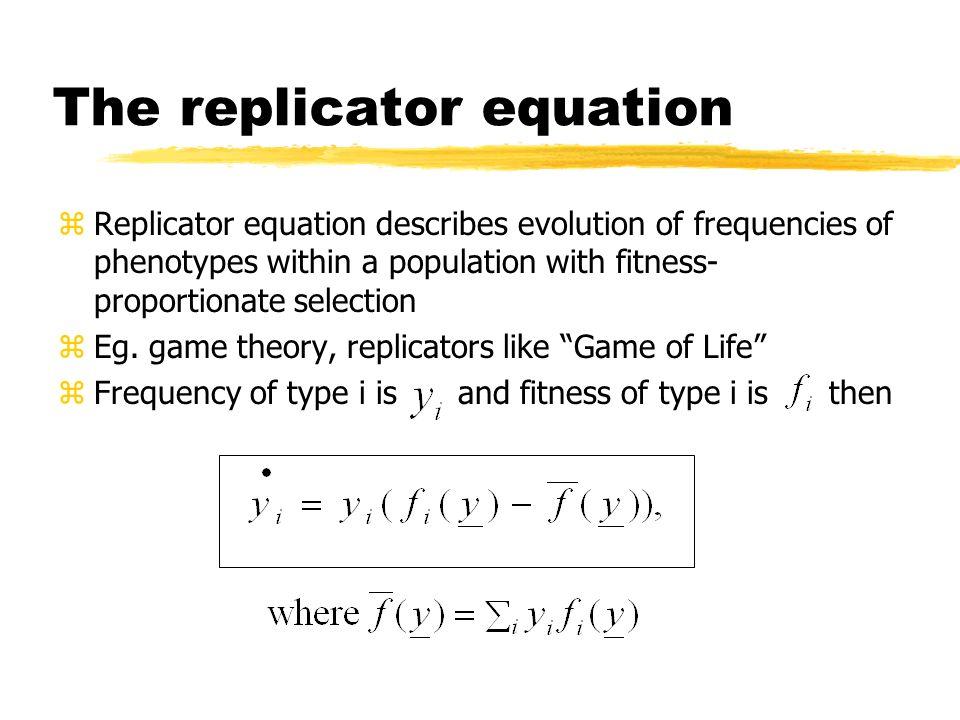 The replicator equation