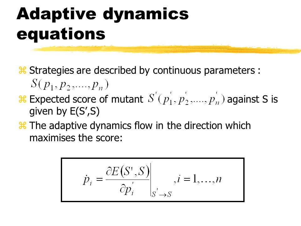 Adaptive dynamics equations