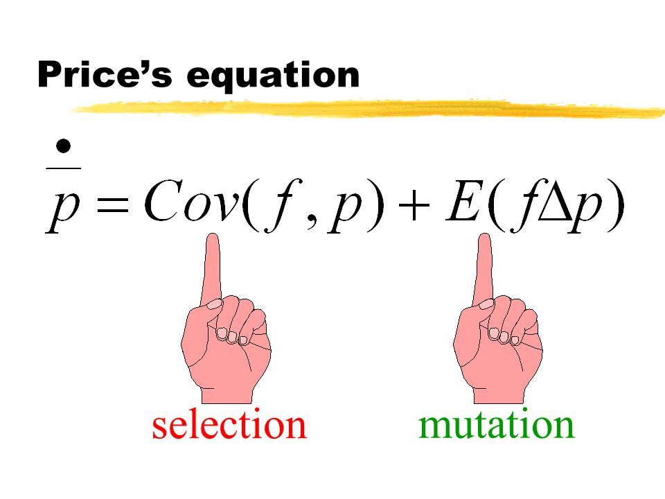 Price's equation selection mutation