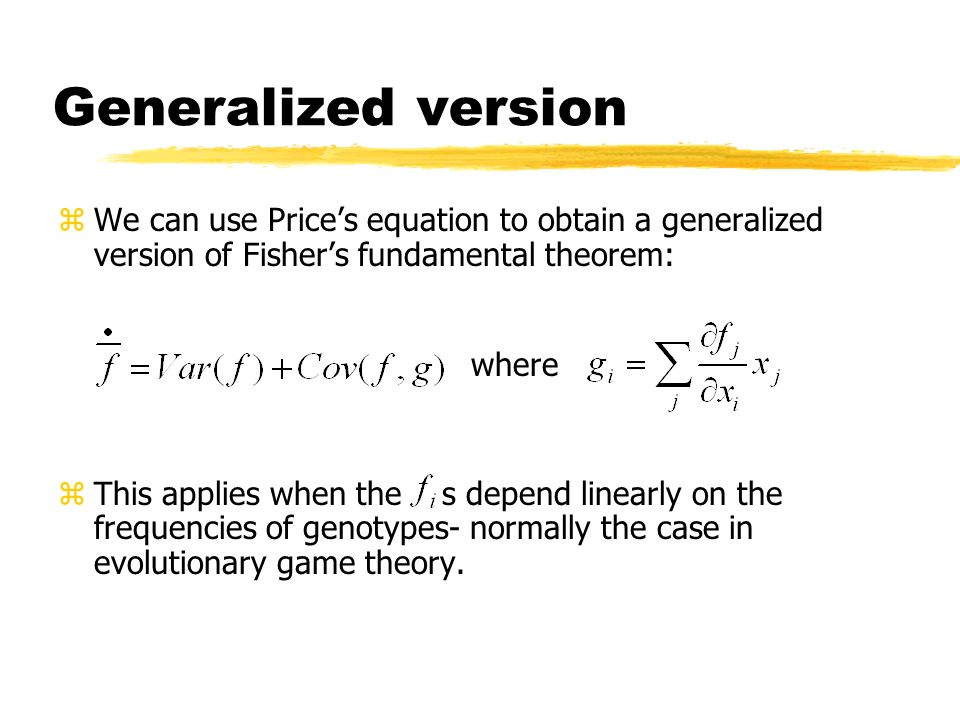 Generalized version where