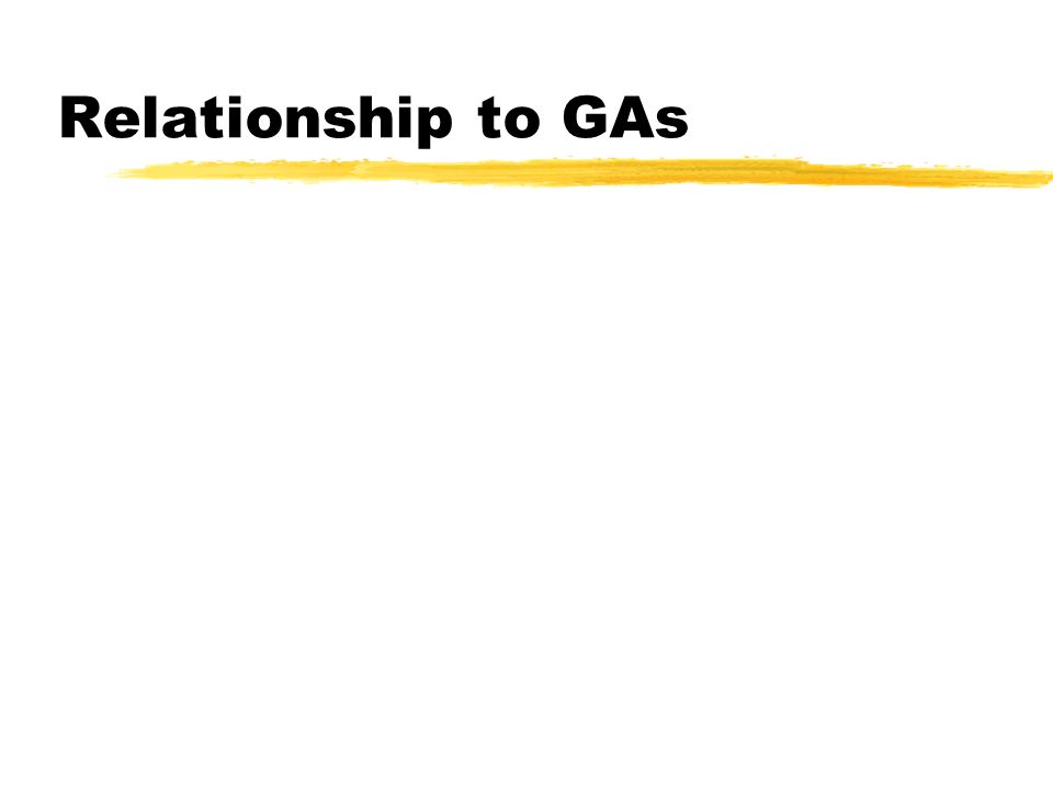 Relationship to GAs