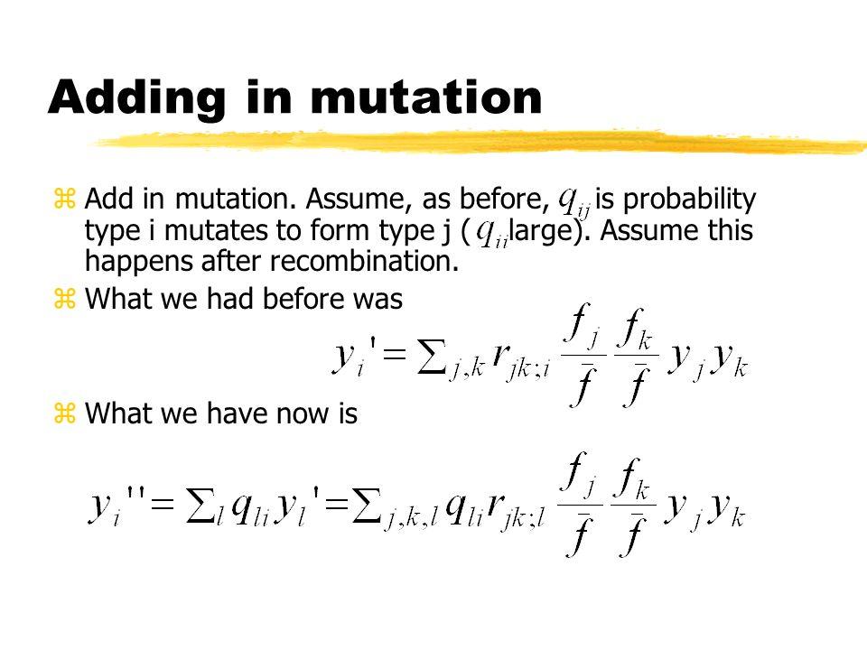 Adding in mutation