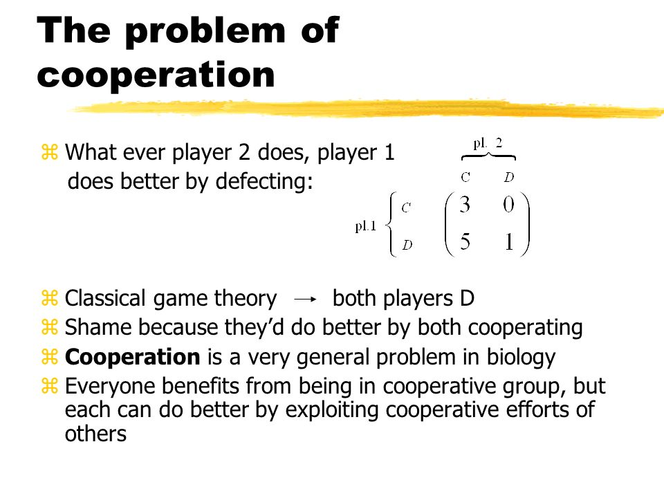 The problem of cooperation