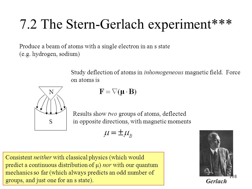 7.2 The Stern-Gerlach experiment***