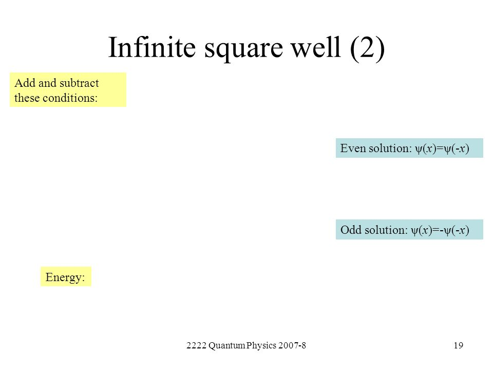 Infinite square well (2)