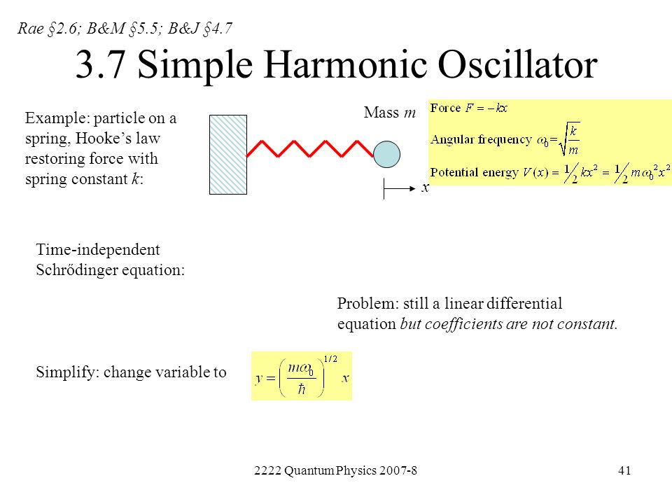 3.7 Simple Harmonic Oscillator