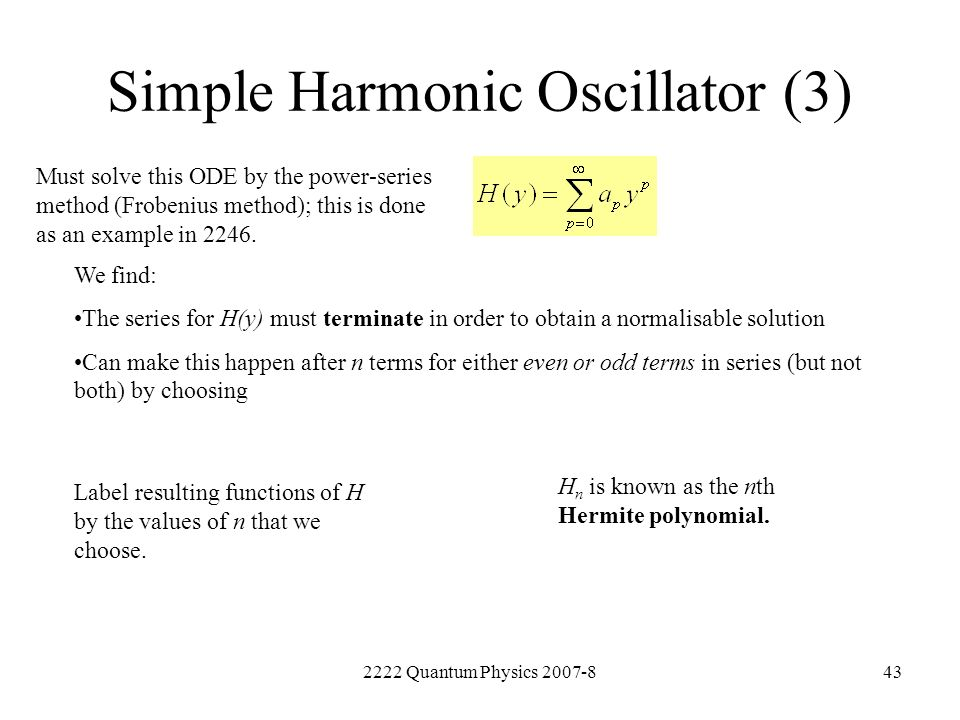 Simple Harmonic Oscillator (3)