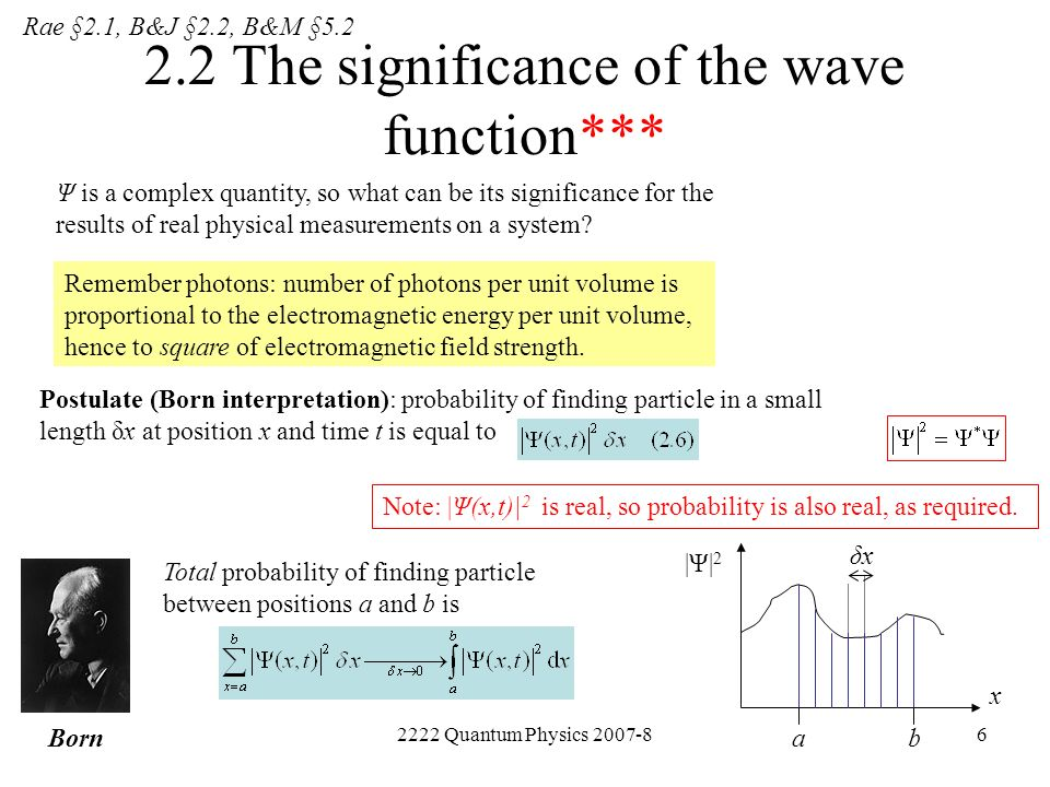 2.2 The significance of the wave function***