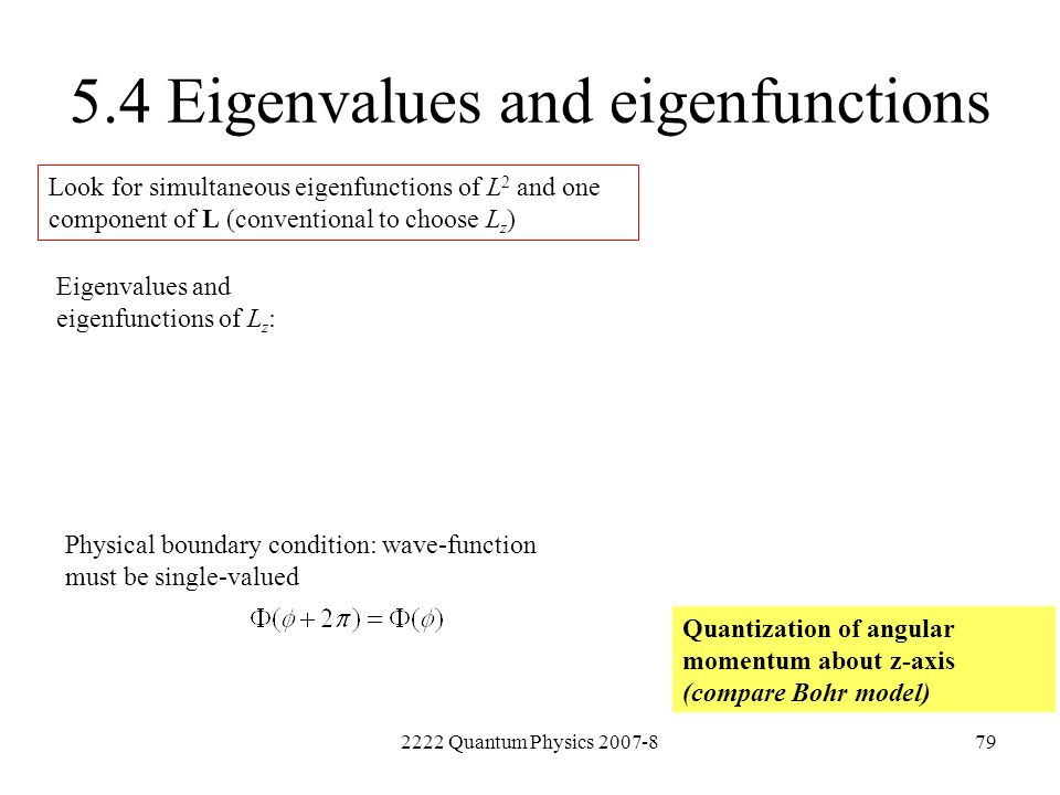 5.4 Eigenvalues and eigenfunctions