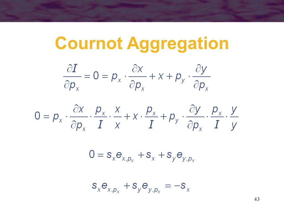 Cournot Aggregation