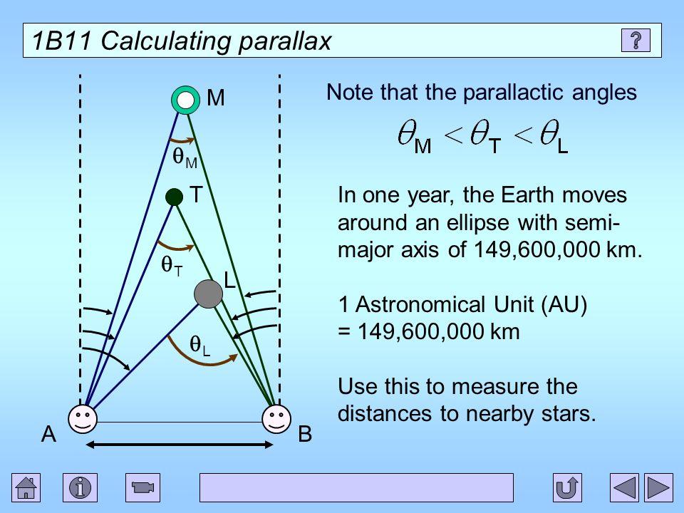 1B11 Calculating parallax